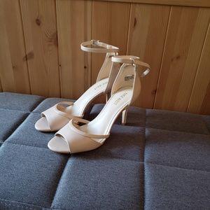 Nude pink low heels